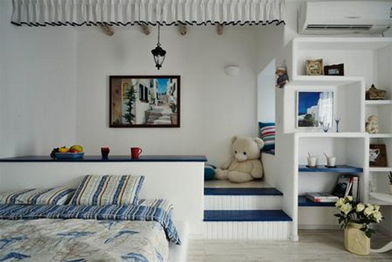 5,地中海风格榻榻米卧室装修效果图